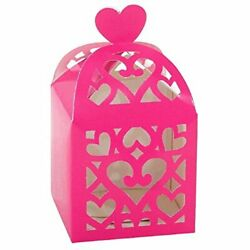 Amscan 380015 Bright Pink Lantern Favor Boxes Wedding and Engagement Party $5.95