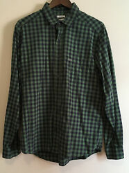Lacoste Green and Black Plaid Button Down Shirt sz 42 $31.99
