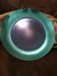 Yankee Candle Decorative Tray Water Drops Teal Dark Blue $25.00