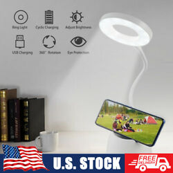 LED Dimmable Desk Lamp Reading Night Light Bedside Touch Sensor USB Rechargeable $7.49