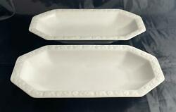 Pair of Rosenthal MARIA White Relish Dishes 10 1 4quot; x 5 1 4quot; Germany $44.99