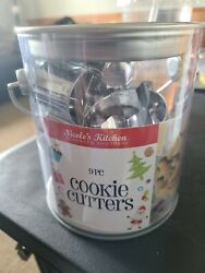 Nicole#x27;s Kitchen Pail Christmas Cookie Cutters 9 Piece Star Tree Gingerbread New $9.99