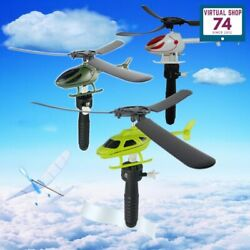 New Educational Toy Helicopter Outdoor Toy Gift Pull Wires RC Helicopters Fly $13.00