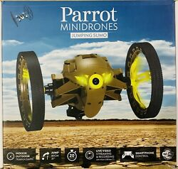 Parrot Mini Drone Jumping Sumo W Smartphone Control Live Streaming Khaki Brown $29.99