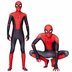 Spider Man Far From Home Kids Men Jumpsuit Cosplay Costumes Party Zentail Outfit $19.98