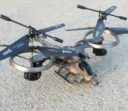 Large Military Remote Control Aircraft Helicopter Charging Toy Avatar Quadcopter $53.90