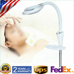 16x LED Magnifying Floor Stand Lamp Facial Gooseneck Magnifier 58W W Pulley $59.79