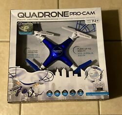 Quadrone Pro Cam Quadcopter 2.4G Flying Helicopter Does 360 Degree Flips $74.99