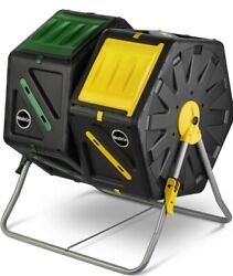Miracle Gro DC140 70 Liter Dual Chamber Outdoor Compost Tumbler Mixer Black $79.00