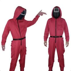 Squid Game Mask Cosplay Jumpsuit Round Halloween Party Costume Adults $69.99