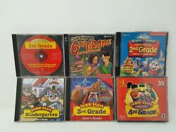 Lot of 6 PC CD ROM Video Games Jump Start Learning Company amp; Knowledge Adventure $24.99