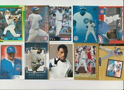 SAMMY SOSA 50 DIFFERENT CARDS LOT HIGH PREMIUM REGULAR TOPPS RC. AND INSERTS $25.99