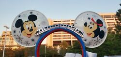 Disney Parks WDW 50th Anniversary Contemporary Resort Loungefly Monorail Ears $48.00