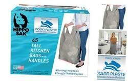 Tall Kitchen Bags Made with Recycled Ocean Plastic 45 45 Count Pack of 1 $19.43