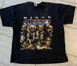Vintage Black History Double Sided Shirt XL History Into Focus MLK Tiger Woods $59.99