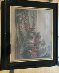 Antique Bachelors Hall Hunting scenes Prints plates #2 6 Total 5 made in England $600.00