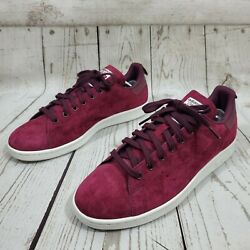 Adidas Stan Smith Originals Mens Size 10.5 Maroon Suede Sneakers Shoes S80028 $64.99