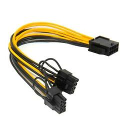 Power Cables 8 Pin to Dual PCIe 8 Pin 62 Graphics Card PCI E Power Adapter $3.92
