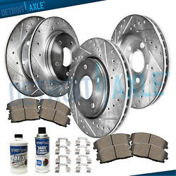 Front Rear Drill Rotors & Ceramic Brake Pads for LEXUS ES350 TOYOTA AVALON CAMRY $131.29
