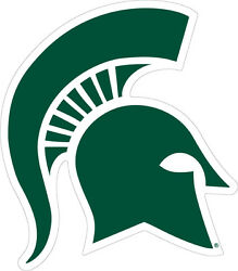 Michigan State University Spartan Logo Cornhole Decals  SET of 2