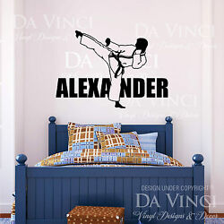 Karate Martial Arts Wall Room Personalized Custom Name Vinyl Wall Decal Sticker $29.99