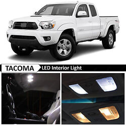 9x White Interior LED Lights Replacement Package Kit Fit 2005 2015 Toyota Tacoma