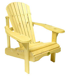 (1) The Bear Chair BC201P White Pine Adirondack Patio Porch Chair Kit
