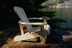 (1) The Bear Chair BC500P White Pine Reclining Adirondack Patio Porch Chair Kit