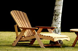 (1) Bear Chair BC700C Red Cedar Adirondack Chaise Lounge Patio Porch Chair Kit