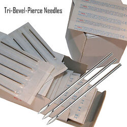 10 Body Piercing Gauge Tri Bevel Pierce Needles $5.25