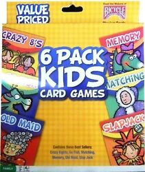 Bicycle 6 Pack Kids Card Games New $9.99