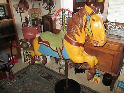 OLD CAROUSEL HORSE WAS TOLD IT WAS MADE BY HERSCHELL SPILLMAN