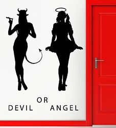Devil And Angel Hot Sexy Girls Decor Wall Stickers Vinyl Decal z2255 $29.99
