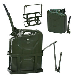 Jerry Can with Holder 20L Liter 5 Gallons - Steel Tank Fuel Gasoline Green $33.78