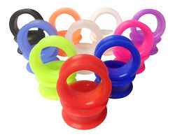 PAIR Soft Silicone Ear Tunnels Plugs choose from 10 colors up to size 50mm $4.80