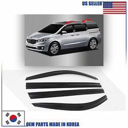 SMOKED DOOR WINDOW VENT VISOR DEFLECTOR ⭐4pcs⭐ fits for KIA SEDONA 2015-2020 $46.99