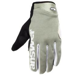 Answer Fall Line XC MTB Full Finger Gloves Gray Small S Retail $30 $30.00