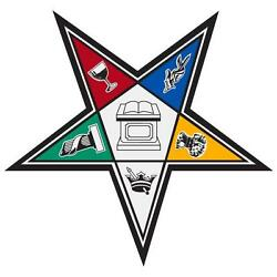 Order of the Eastern Star Large 4quot; Reflective Decal Sticker $6.00