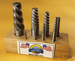 Drill Hog USA Spiral Easy Outs Set Round Screw Extractor Lifetime Warranty 8 Pc $56.99