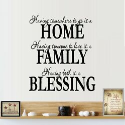 Home Family Blessings Wall Decal $17.48