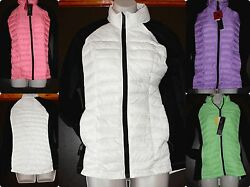 *NWT* Womens Soft Quilted DOWN Body COAT Jacket Weatherproof 32° Spandex Arms