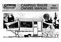 COLEMAN Popup Trailer Owners Manual 1976 Concord Patriot Gettysburg Valley Forge $21.99