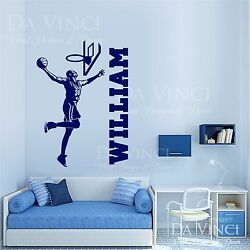 Basketball Player Slam Dunk Decal Custom Name Wall Personalized Vinyl Sticker A $30.99