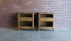 Provincial Nightstands Bedside Chest French Nightstand Vintage Nightstand $995.00