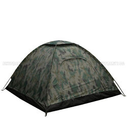 Outdoor Camping Waterproof 4 Person Folding Tent Camouflage Hiking Family Travel $27.98