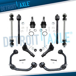 2WD 10pc Front Control Arm Ball Joints Inner Outer Tie Rods for Ford Ranger