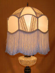 Antique Victorian TABLE LAMP with Nice Shade 46quot; high $755.00