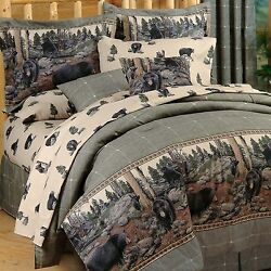The Bears Cabin Bedding Comforter Set ~ 4 Sizes ~Wildlife Bed Set