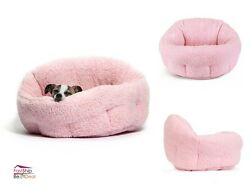 Pet Dog Bed Cuddler Pink Soft Warm Cozy Puppy Cat House Furniture Sofa Cushion