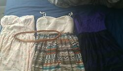 3 junior dresses size xl and 13 14 $39.99